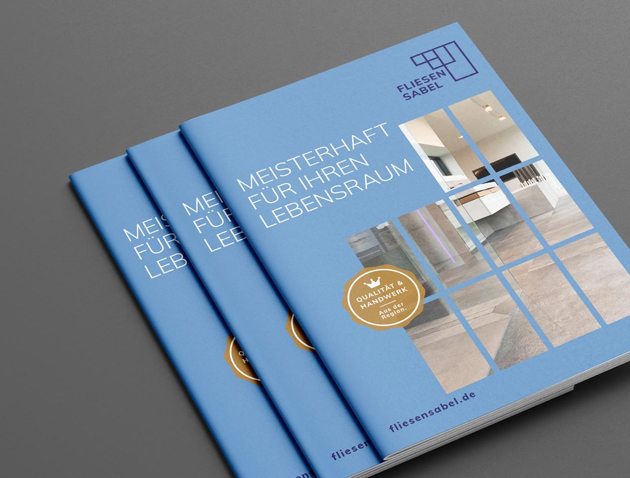 fliesen sabel broschuere TWINNERS Zwillingsagentur Werbeagentur Designagentur Design Werbung Konzept Emsbüren Plettenberg
