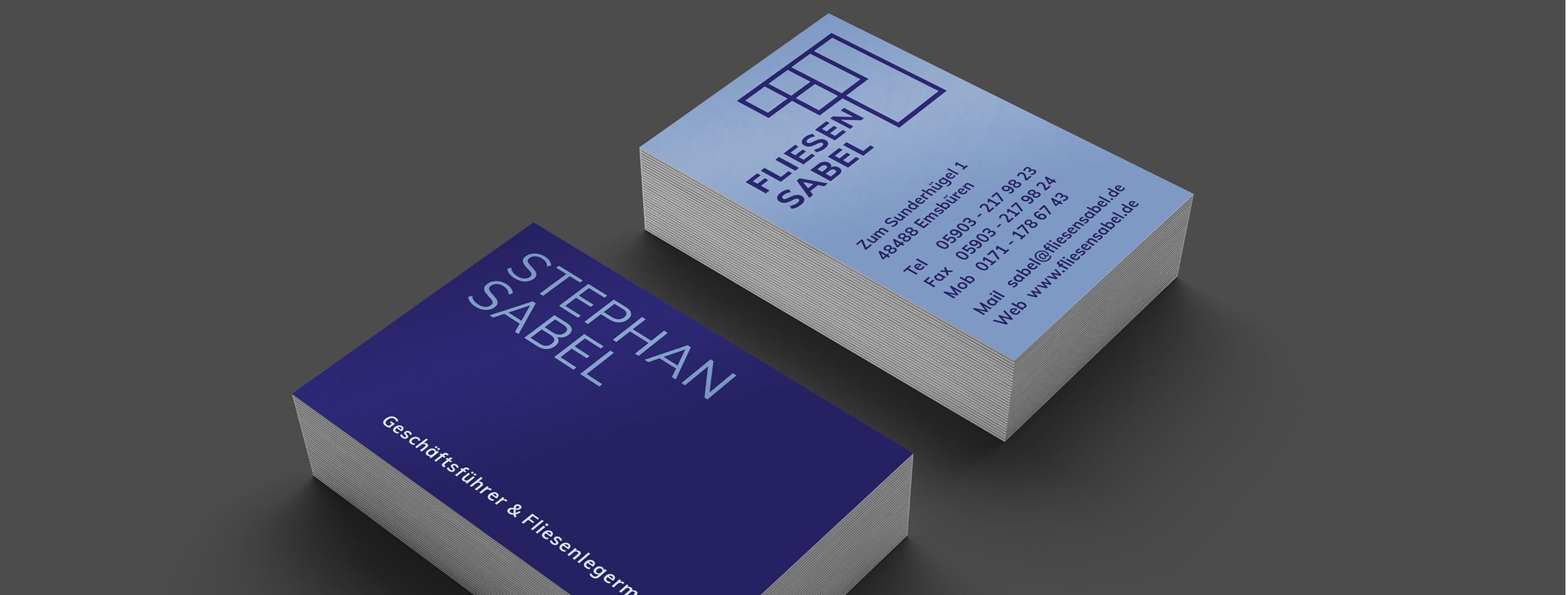 fliesen sabel Visitenkarten TWINNERS Zwillingsagentur Werbeagentur Designagentur Design Werbung Konzept Emsbüren Plettenberg