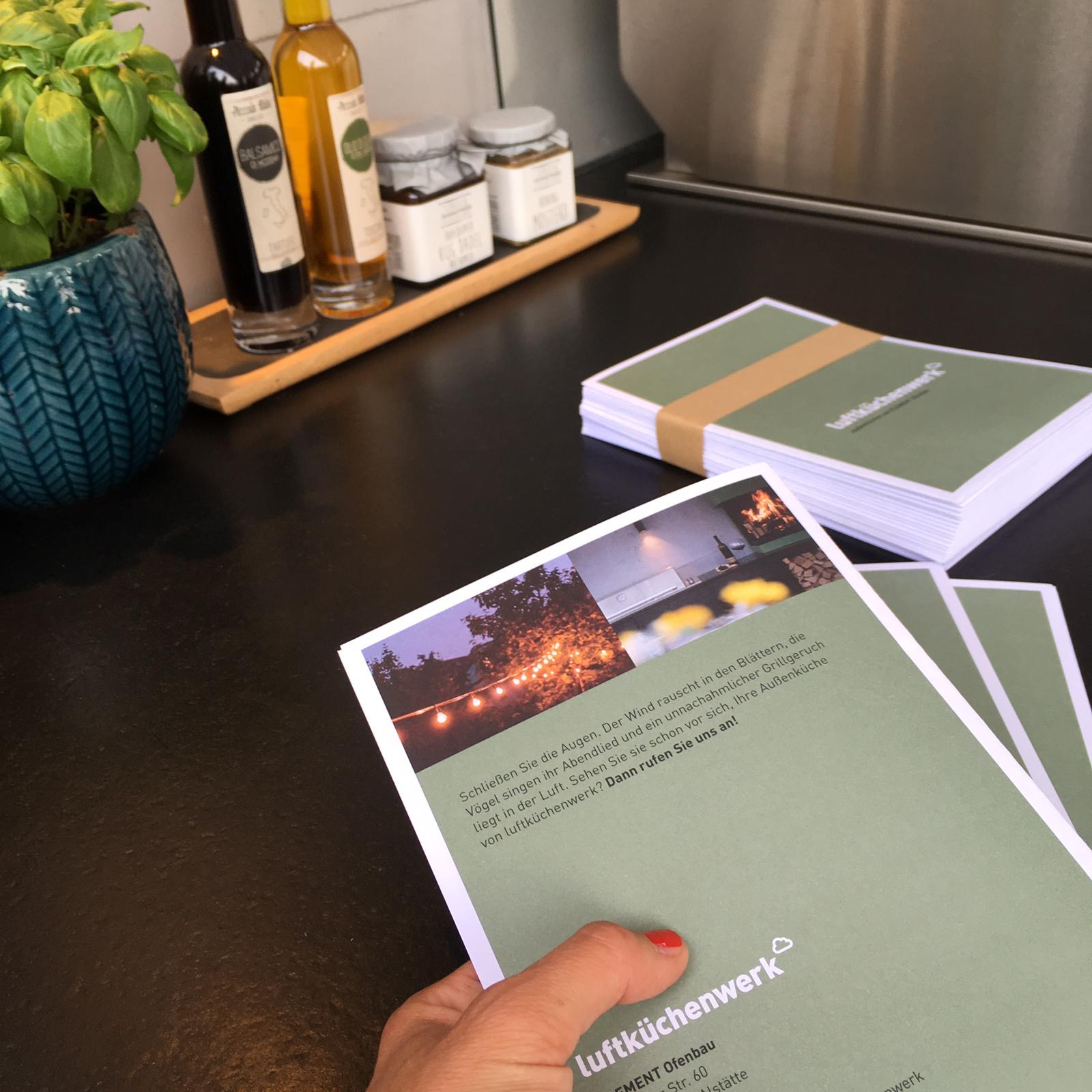 Flyer luftküchenwerk TWINNERS Zwillingsagentur Werbeagentur Designagentur Design Werbung Konzept Emsbüren Plettenberg